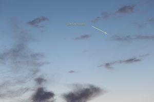 Komet Panstarrs am 19. März 2013 um 19:20 Uhr am Westhimmel