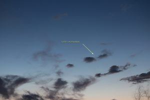 Komet Panstarrs am 19. März 2013 um 19:23 Uhr am Westhimmel
