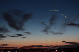 Komet Panstarrs am 19. März 2013 um 19:33 Uhr am Westhimmel