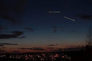 Komet Panstarrs am 19. März 2013 um 19:41 Uhr am Westhimmel