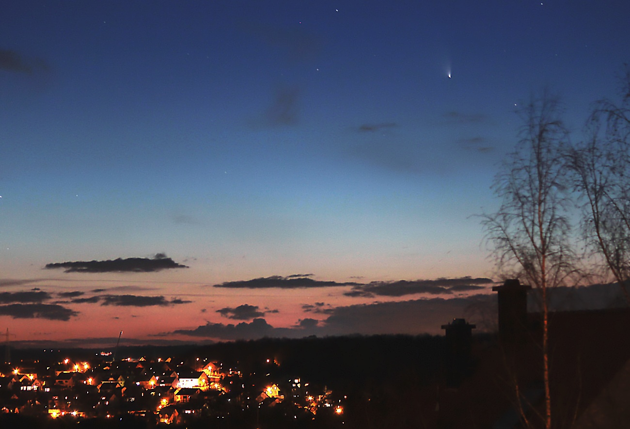 Komet C/2011 L4 (Pan-STARRS) am 19.03.2013 um 19:47 Uhr