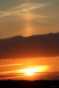 Obere Lichtsäule am 30. Mai 2015 um 21:07 Uhr