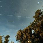 Zweiter Überflug der ISS am 5. Juni 2015 um 23:50 Uhr am Nordhimmel