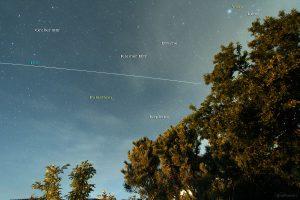 Zweiter Überflug der ISS am 05.06.2015 um 23:50 Uhr am Nordhimmel von Eisingen