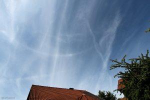 Horizontalkreis mit 120°-Nebensonne am 17. Juni 2015 um 16:08 Uhr