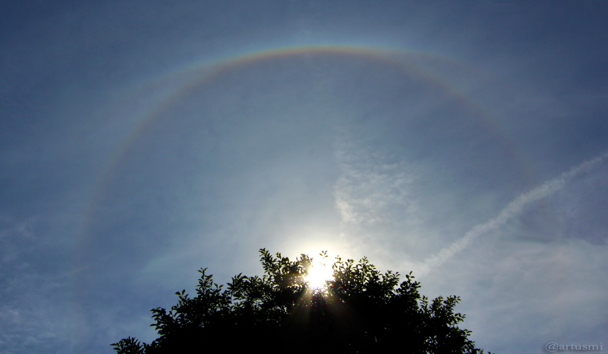 22°-Ring um die Sonne - 17. Juni 2015 um 16:25 Uhr