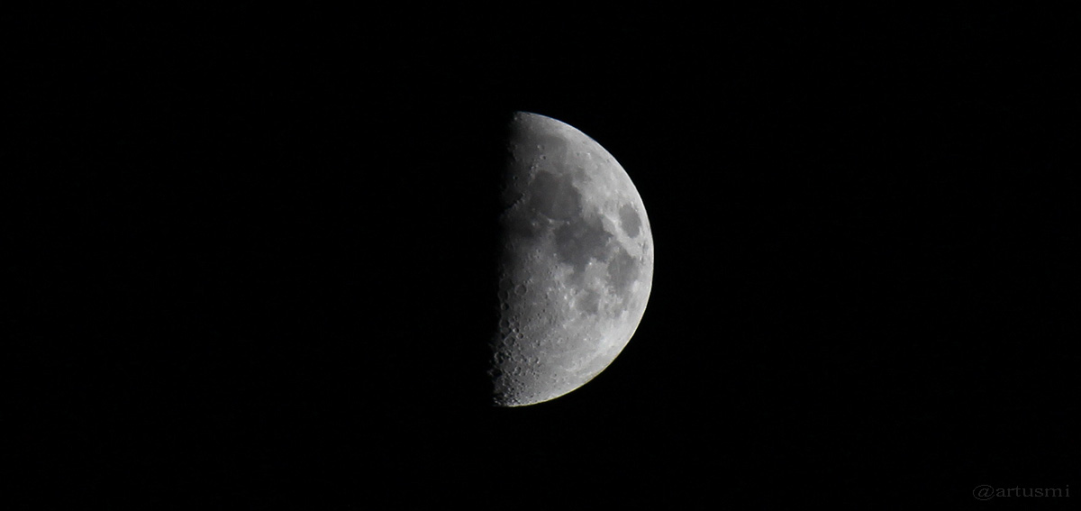 Zunehmender Mond am 24. Juni 2015 um 22:25 Uhr