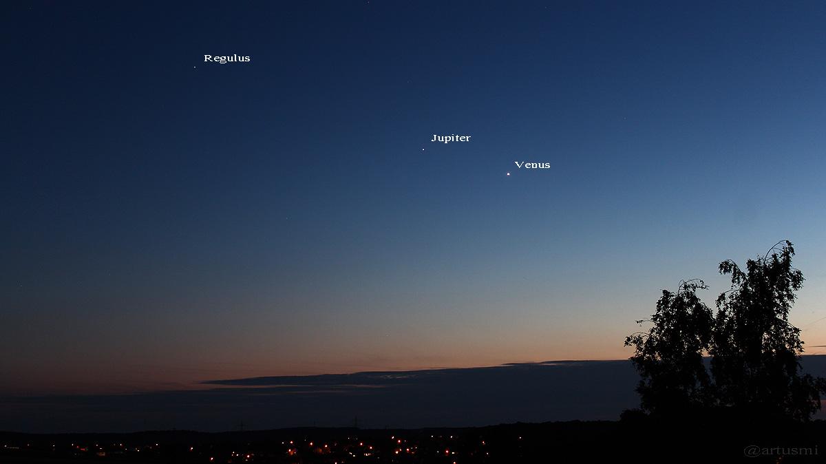 Jupiter und Venus am 24. Juni 2015 um 22:44 Uhr