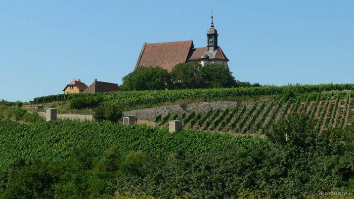Wallfahrtskirche Maria im Weingarten bei Volkach im Landkreis Kitzingen