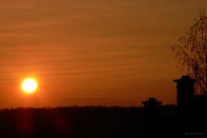 Vulkanischer Sonnenuntergang am 16.04.2010 um 20:02 Uhr