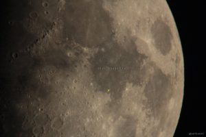 Landestelle von Apollo 11 (gelbes x) auf dem Mond - 29. Mai 2012 um 21:39 Uhr