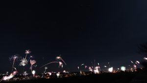 Feuerwerk am 1. Januar 2013 um 00:00 Uhr mit Großem Wagen