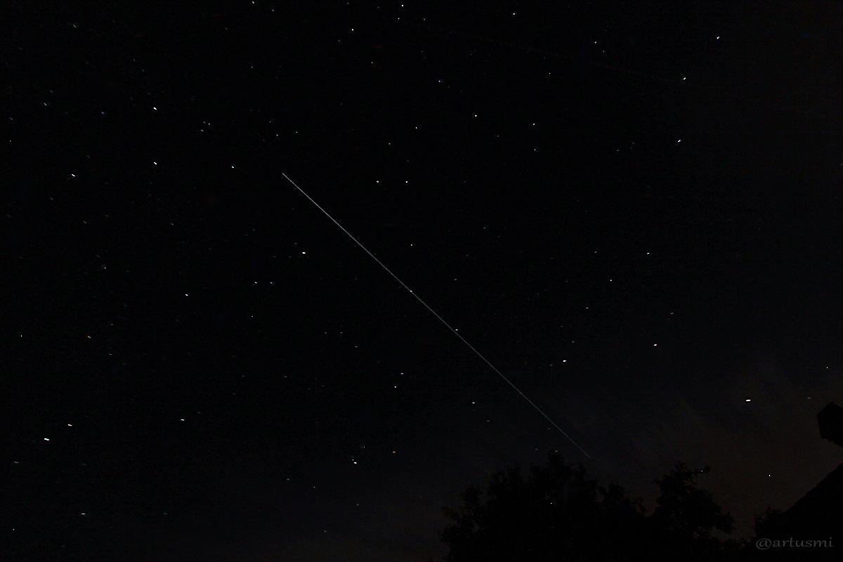 Überflug der ISS am 4. August 2014 um 23:29 Uhr