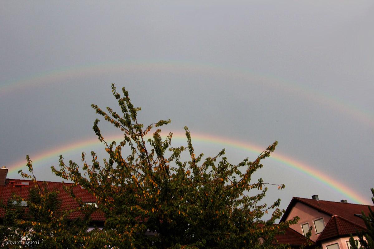 Regenbogen am 20. September 2014 um 17:57 Uhr