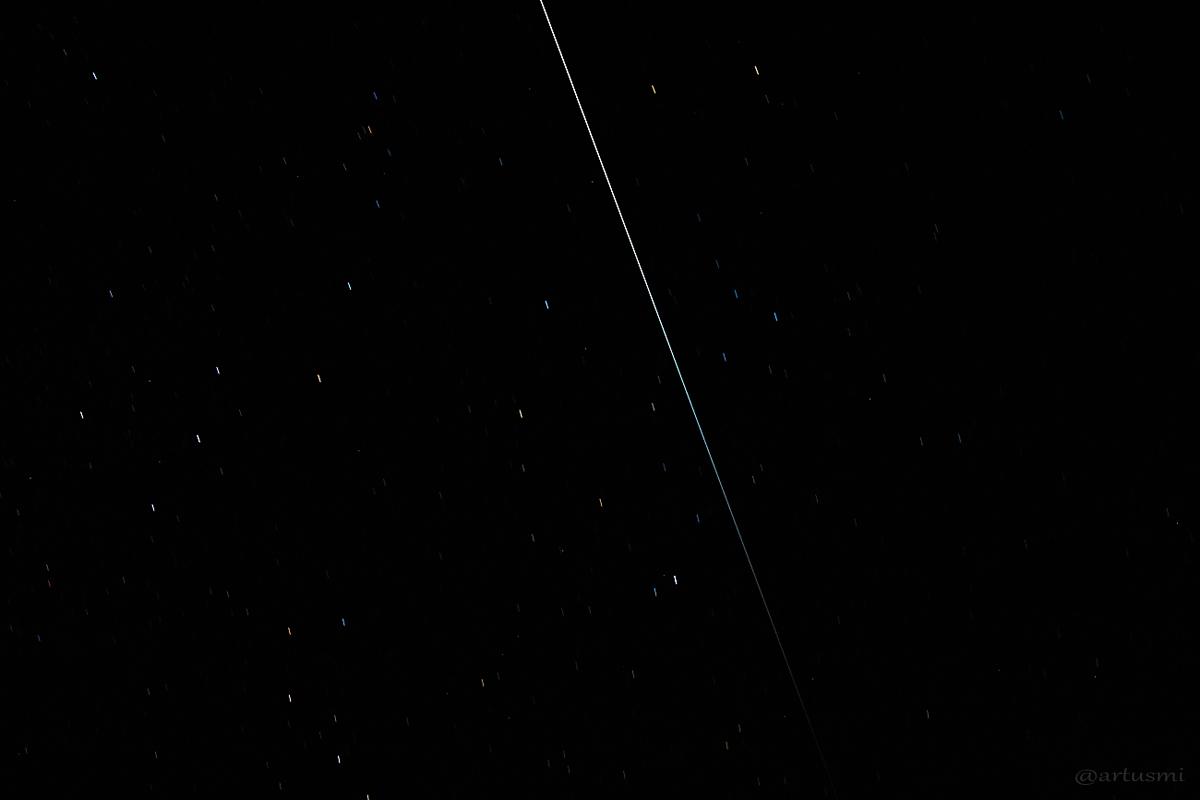 ISS verschwindet im Erdschatten