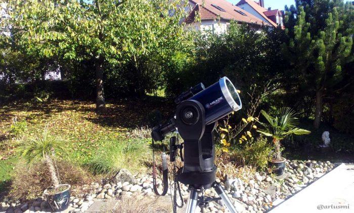 Sonnenbeobachtung mit geschütztem 8 Zoll Schmidt-Cassegrain Teleskop