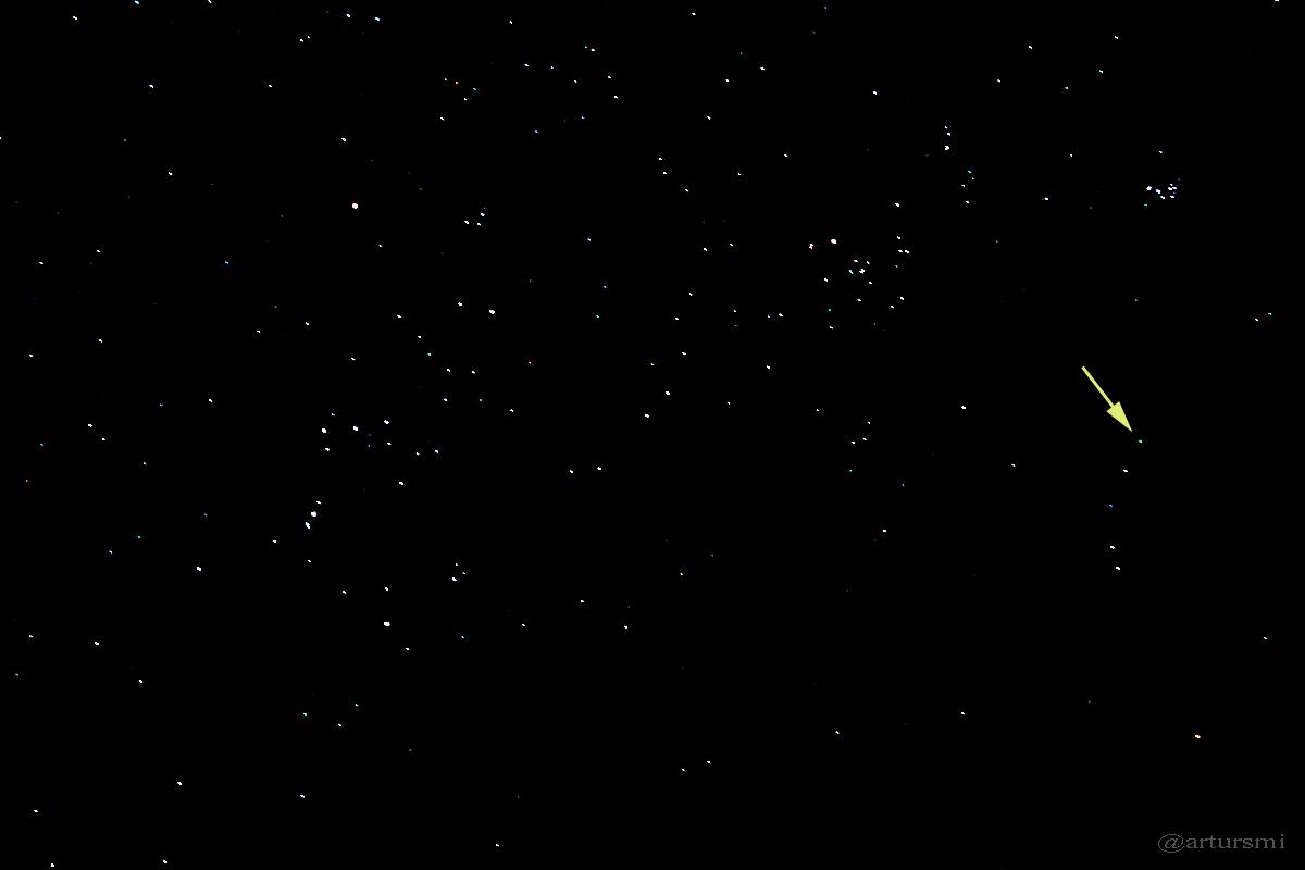 Komet C/2014 Q2 (Lovejoy) am 15. Januar 2015 um 00:54 Uhr