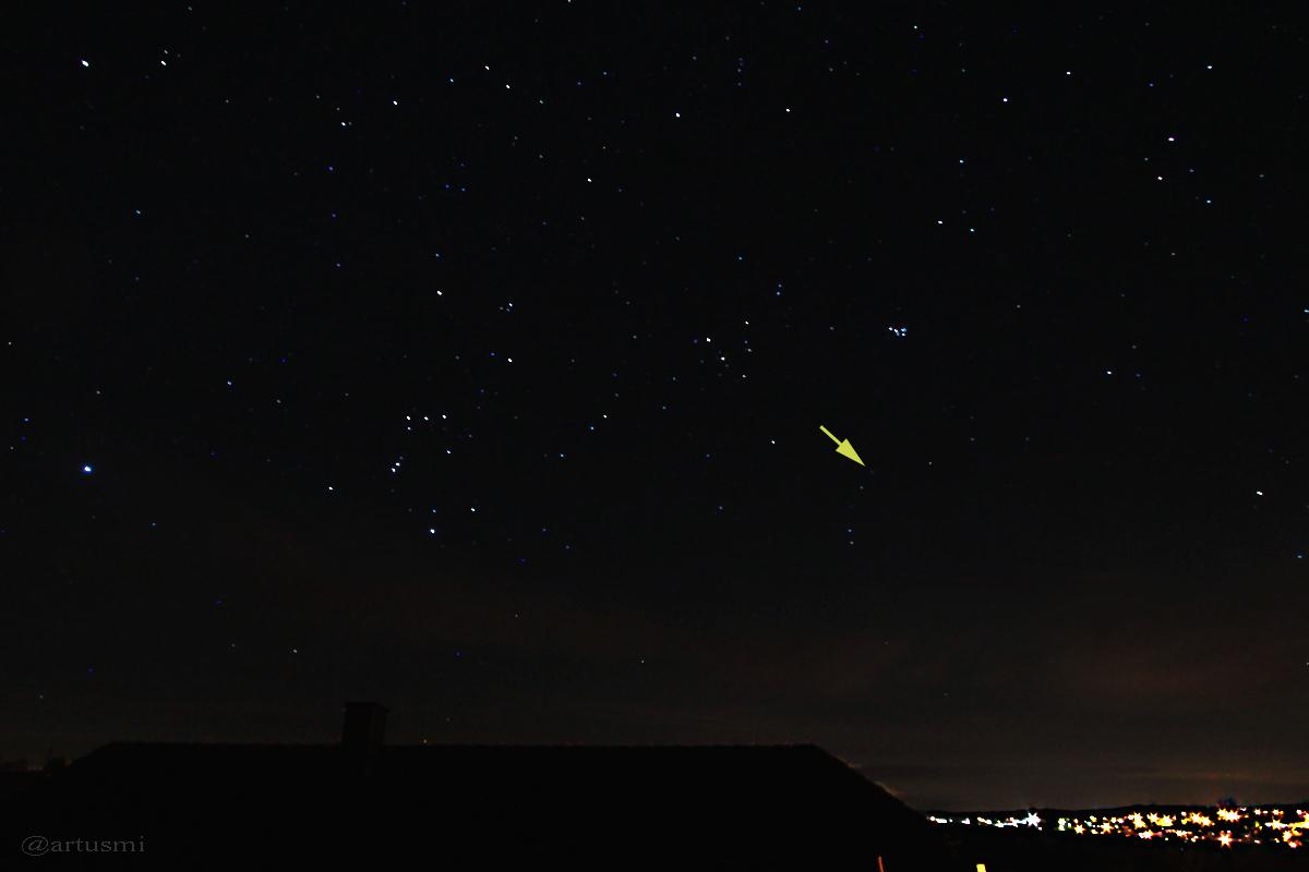 Komet C/2014 Q2 (Lovejoy) am 15. Januar 2015 um 00:59 Uhr