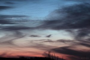 Venus und Merkur am 18. Januar 2015 um 17:43 Uhr am Westhimmel