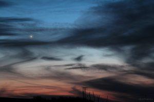Venus und Merkur am 18. Januar 2015 um 17:46 Uhr am Westhimmel