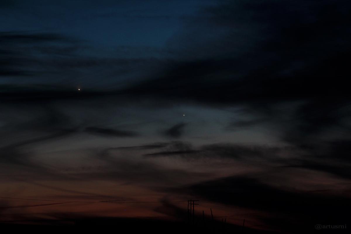Venus und Merkur am Westhimmel von Eisingen - 18. Januar 2015, 17:47 Uhr