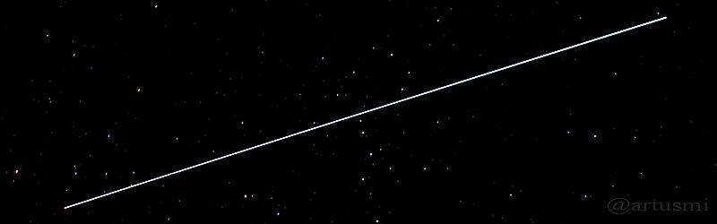 Beobachtung der ISS im April 2015