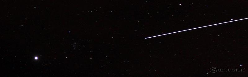 Jupiter und ISS am 15. April 2015 um 22:17 Uhr