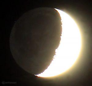 Mond bedeckt HIP 59412 am 21. Juli 2015 um 22:43 Uhr
