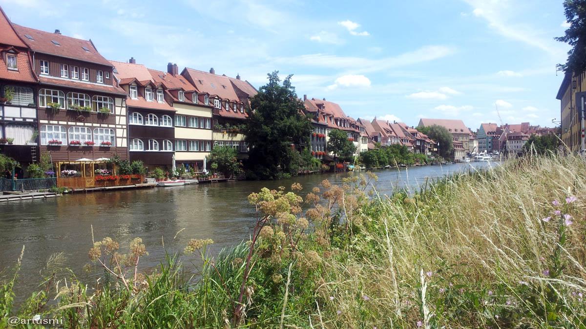 Klein-Venedig in Bamberg an der Regnitz am 22. Juli 2015
