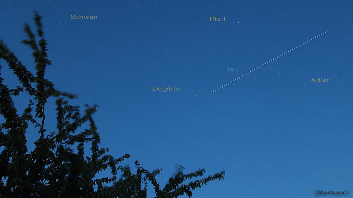 Die ISS am 3. August 2015 um 21:53 Uhr