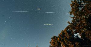 Die ISS am 3. August 2015 um 23:29 Uhr