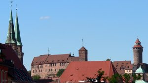 Sebalduskirche und Kaiserburg in Nürnberg - 17. August 2011