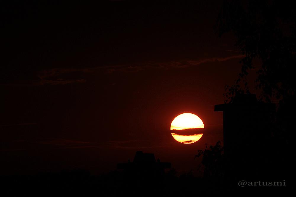 Sonnenuntergang am 11. August 2013 um 20:33 Uhr