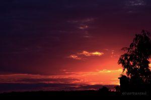 Sonnenuntergang am 11. August 2013 um 20:37 Uhr