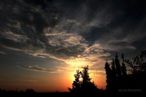 Eisingen Sunset am 23. August 2013 um 19:44 Uhr