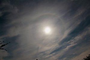 22°-Ring um die Sonne am 24. August 2013 um 12:47 Uhr
