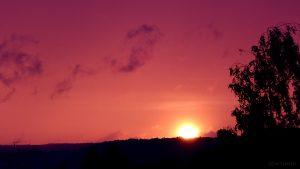 Sonnenuntergang am 24. August 2015 um 20:15 Uhr