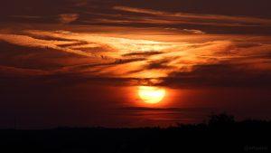 Eisingen Sunset am 31. August 2015 um 19:57 Uhr