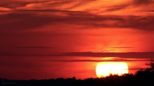 Eisingen Sunset am 31. August 2015 um 20:01 Uhr