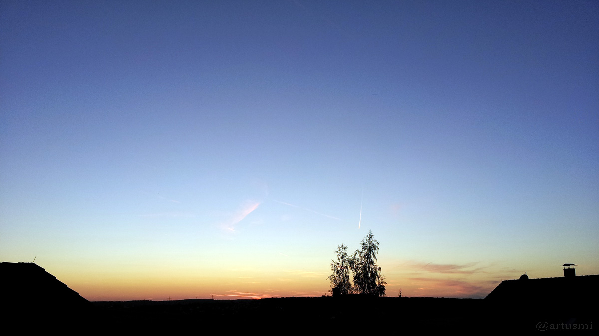 Abenddämmerung am 8. September 2012 um 20:01 Uhr