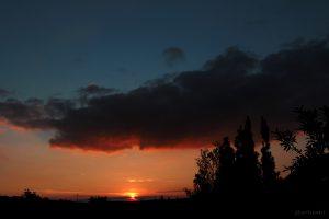 Sonnenuntergang am 27.09.2014 um 19:00 Uhr