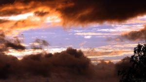 Der Westhimmel am 1. September 2015 um 19:55 Uhr