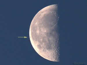 Mond bedeckt Aldebaran am 5. September 2015 um 07:06 Uhr