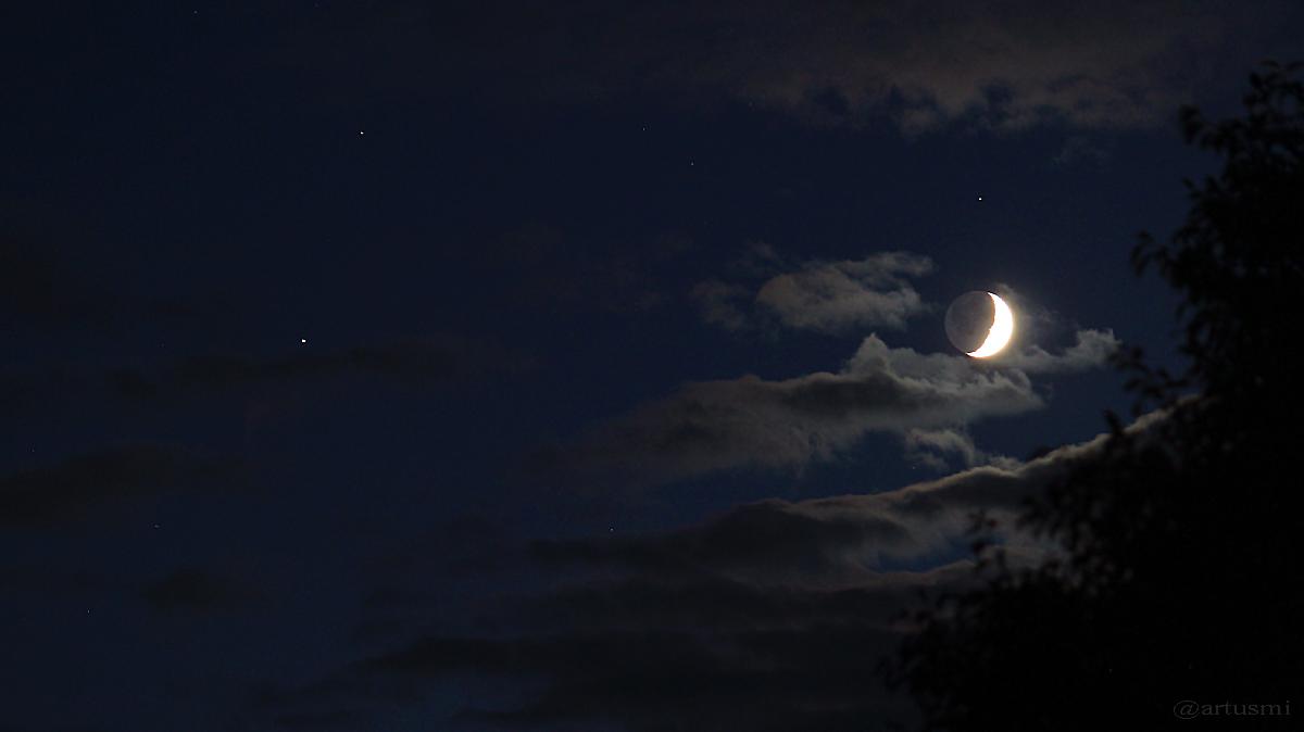 Zunehmender Mond begegnet Saturn