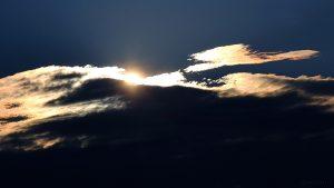 Tiefstehende Sonne am 22. September 2015 um 18:36 Uhr