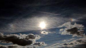Sonne mit Nebensonnen am 24. September 2015 um 16:34 Uhr