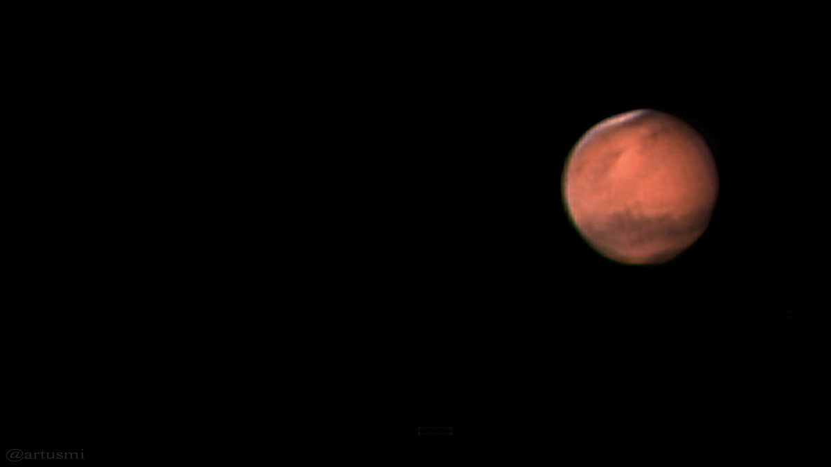 Planet Mars am 20. Dezember 2007 um 21:59 Uhr