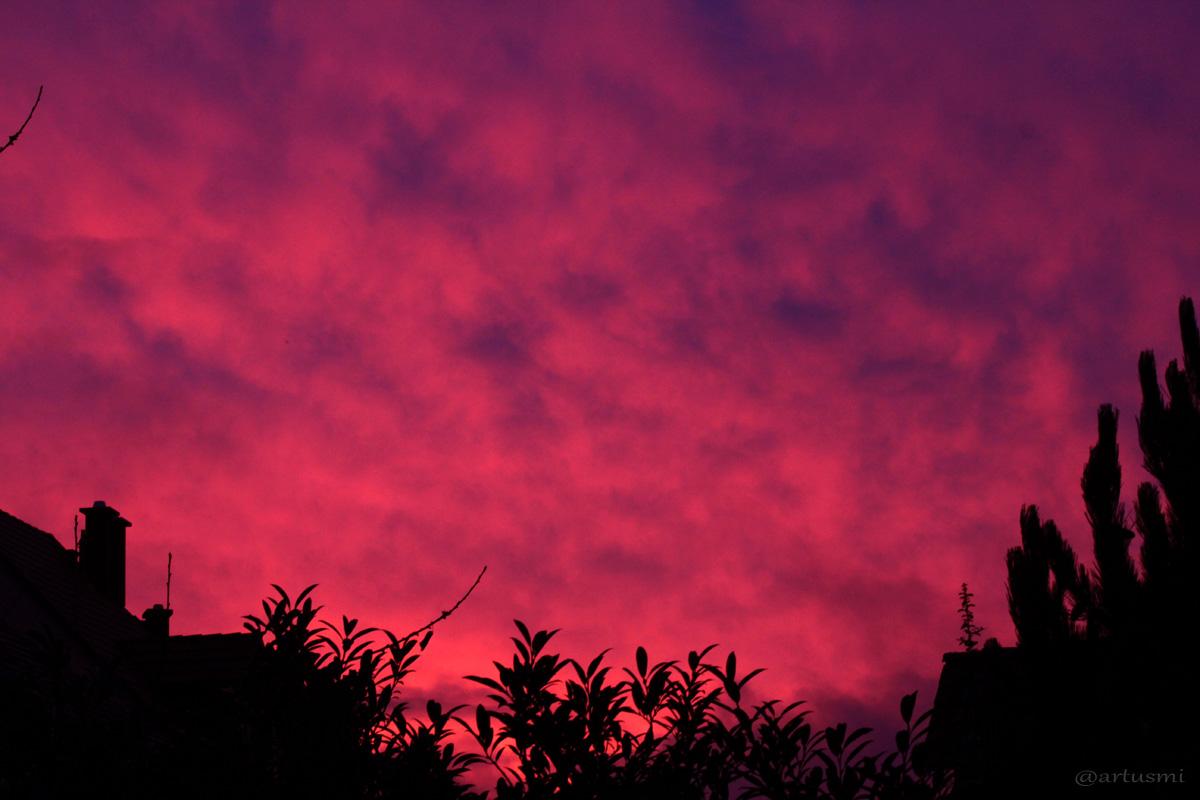 Intensives Morgenrot am 17. Dezember 2014