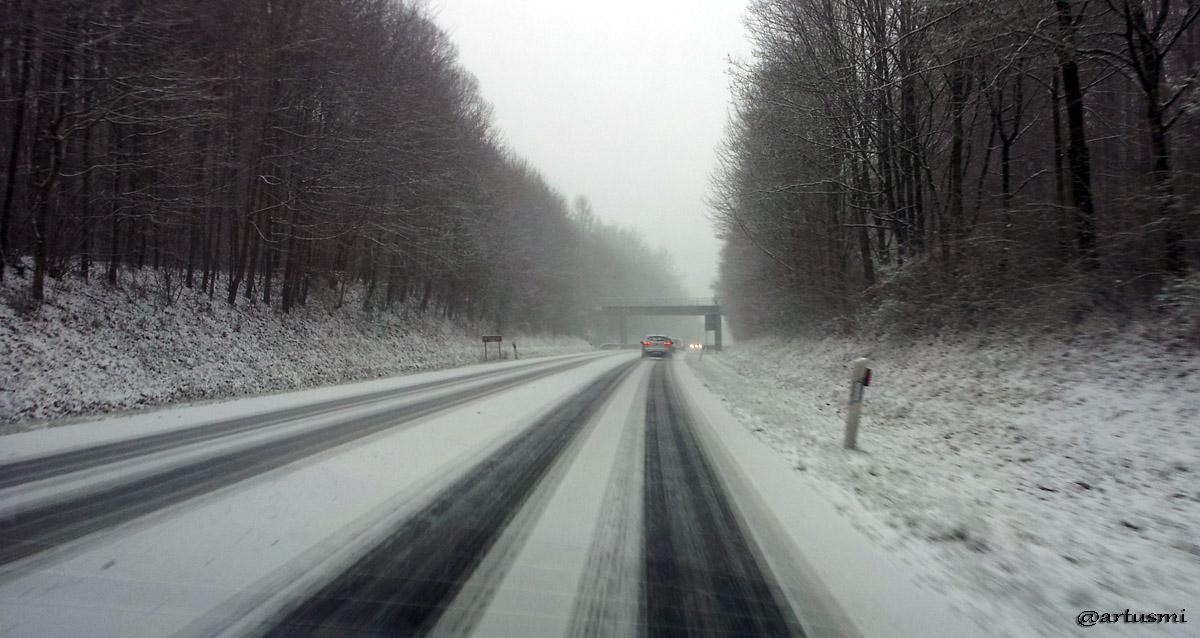 Schneefall hat Ende Dezember 2014 auch Mainfranken erreicht