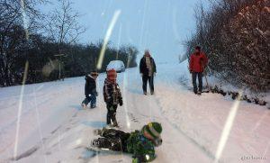 Spielen im Schnee am 27. Dezember 2014